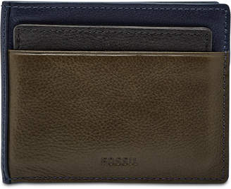 Fossil Men Raymond Leather 2-In-1 Wallet