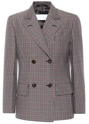 Maison Margiela Wool and mohair checked jacket