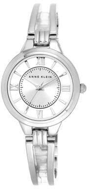 Anne Klein Ladies Double Bar Semi-Bangle Watch Ak-1441SVSV