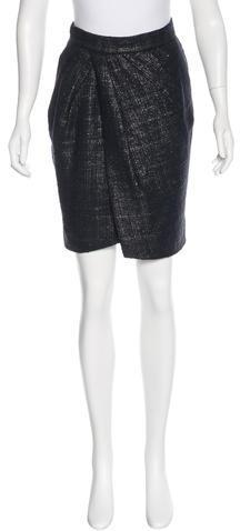 FendiFendi Tweed Knee-Length Skirt