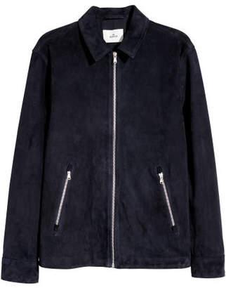 H&M Suede Shirt Jacket - Blue