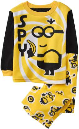 Crazy 8 Crazy8 Minions Fuzzy 2-Piece Pajama Set