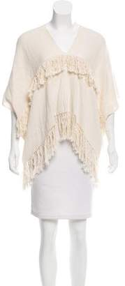 Apiece Apart Fringe Knit Sweater