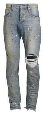 Purple Brand Core Paint Destroyed Slim Jeans