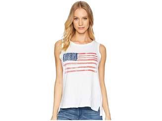 Original Retro Brand The American Flag Sleeveless Slub Tank Top