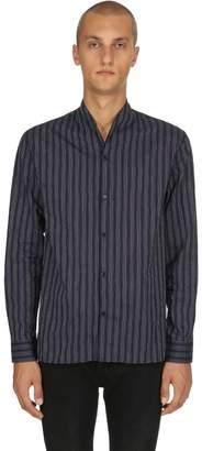 The Kooples Pajama Striped Light Cotton Shirt