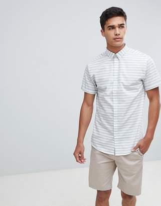 Jack and Jones Short Sleeve Shirt With Horizontal Stripe