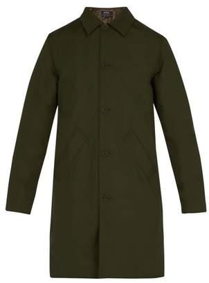 A.P.C. Alex Point Collar Raincoat - Mens - Green