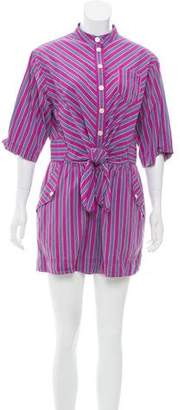 Marc by Marc Jacobs Striped Short Sleeve Romper