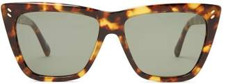 Stella Mccartney - Cat Eye Tortoiseshell Acetate Sunglasses - Womens - Tortoiseshell