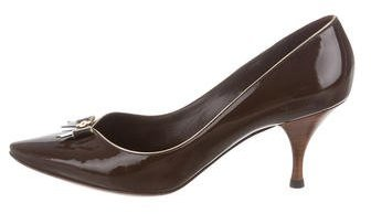 Louis Vuitton Patent Leather Pointed-Toe Pumps