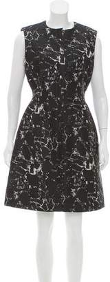 Balenciaga Sleeveless Jacquard Dress