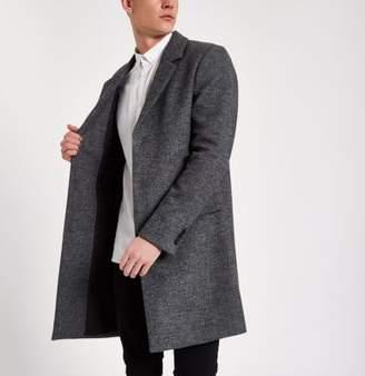 River Island Mens Grey smart tailored overcoat