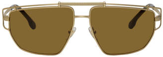 Versace Gold Greek Wire Sunglasses