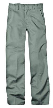 Dickies KP321 Boys' FlexWaist(tm) Flat Front Pant with Logo Silver