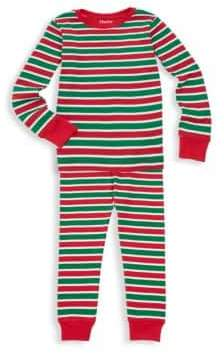 Hatley Little Kid's& Kid's Holiday Stripe Top& Pants Set