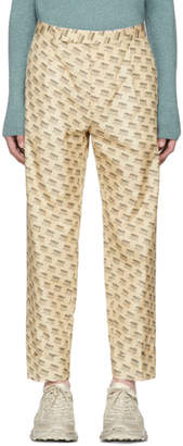 Gucci Tan All Over Logo Formal Trousers