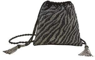 MANGO Embroidered bucket bag