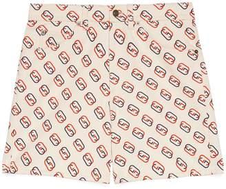 Gucci Shorts with oval Interlocking G print
