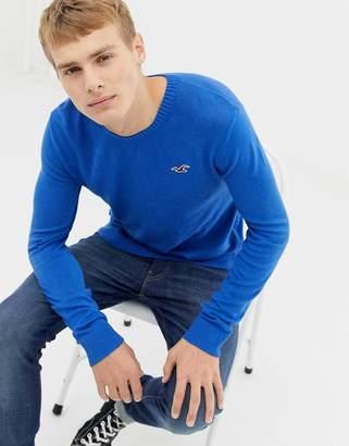 Hollister crew neck logo sweater