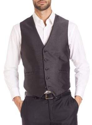 Pindot Five-Button Vest