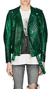 Amiri Men's Python Moto Jacket - Green