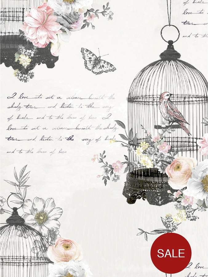 ARTHOUSE Diamond Birdcage Neutral Wallpaper