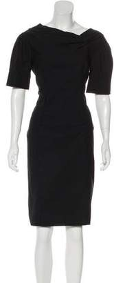 Nina Ricci Short Sleeve Knee-Length Dress