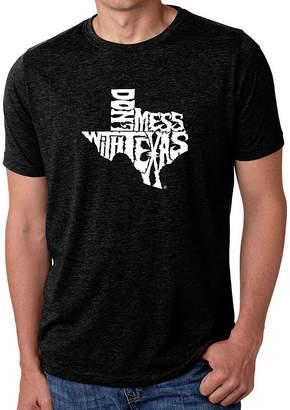 Blend of America LOS ANGELES POP ART Los Angeles Pop Art Men's Premium Word Art T-shirt - Dont Mess With Texas