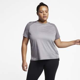 6fc2b7cd6257e Nike Women s Short Sleeve Running Top (Plus Size Miler