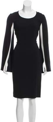 Givenchy Cape-Sleeve Midi Dress Black Cape-Sleeve Midi Dress