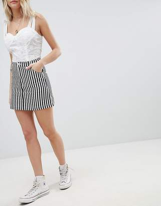 Emory Park Mini Skirt In Stripe