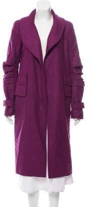 Oscar de la Renta Shaw-Lapel Long Coat