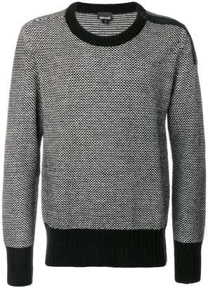 Just Cavalli two-tone knit sweater