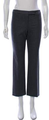 Alexander McQueen Mid-Rise Wool Pants Grey Mid-Rise Wool Pants