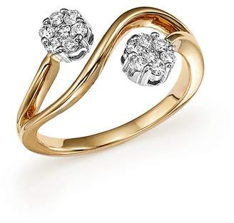 Bloomingdale's Diamond Double Flower Ring in 14K White and Yellow Gold, .30 ct. t.w. - 100% Exclusive