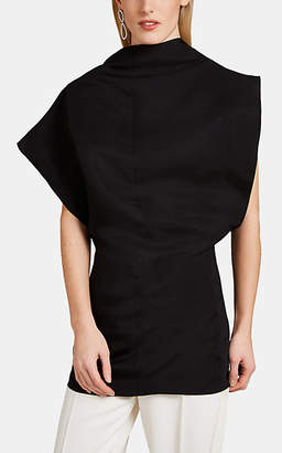 Jil Sander Women's Asymmetric Sleeveless Top - Black