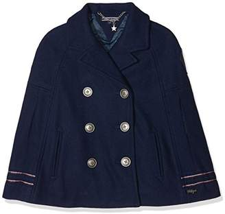 Tommy Hilfiger Girl's Holiday Thkg Wool Cape Jacket,(Manufacturer Size: 5)