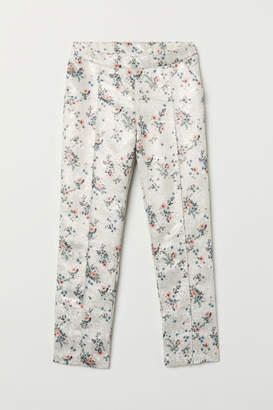H&M Jacquard-weave Pants - White