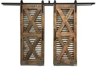 URBAN RESEARCH Wilco Home Window Indoor Shutters Solid Wood Panelled Wood Interior Barn Door