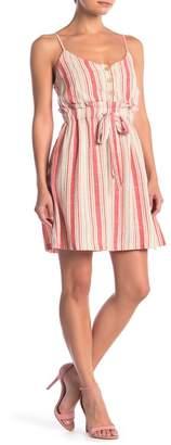 Lush Stripe Waist Tie Dress