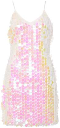 Quiz White Sequin Embellished Bodycon Dress