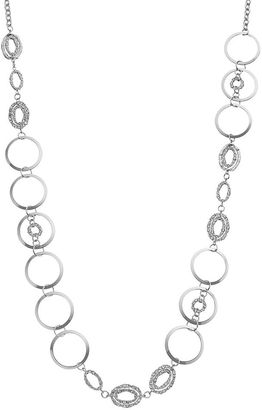 Jennifer Lopez Long Oval & Circle Link Necklace $30 thestylecure.com