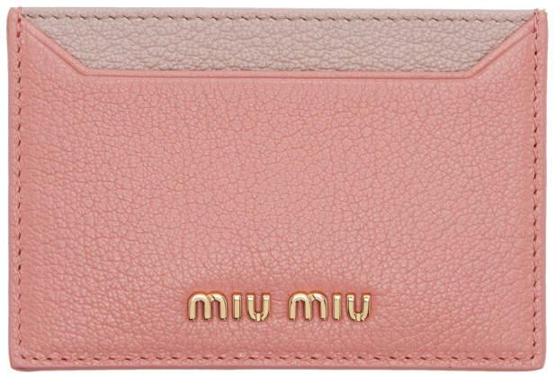 Miu Miu Pink Colorblock Card Holder