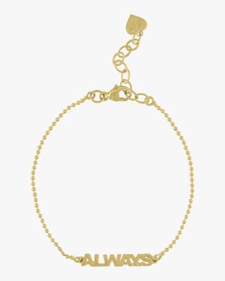Eden Presley Golden Word Bead Chain Bracelet