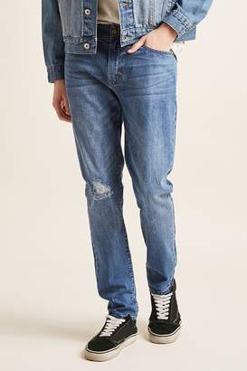 Forever 21 Distressed-Knee Skinny Jeans