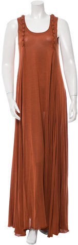 Saint LaurentYves Saint Laurent Sleeveless Braid-Accented Gown