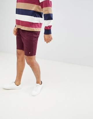 Farah Hawk Chino Twill Shorts in Burgundy