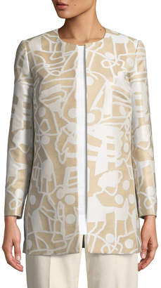 Lafayette 148 New York Pria Open-Front Jacket