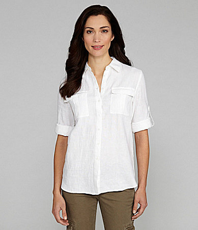 Chaus Roll-Tab Button-Front Shirt